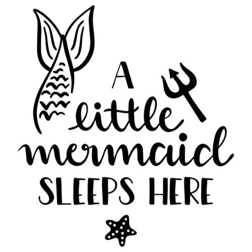 A Little Mermaid Sleeps Here Vinyl Wall Graphic Decal Sticker