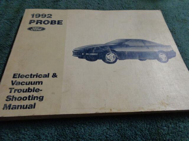 1992 Ford Probe Wiring  U0026 Vacuum Diagram Shop Manual Orig