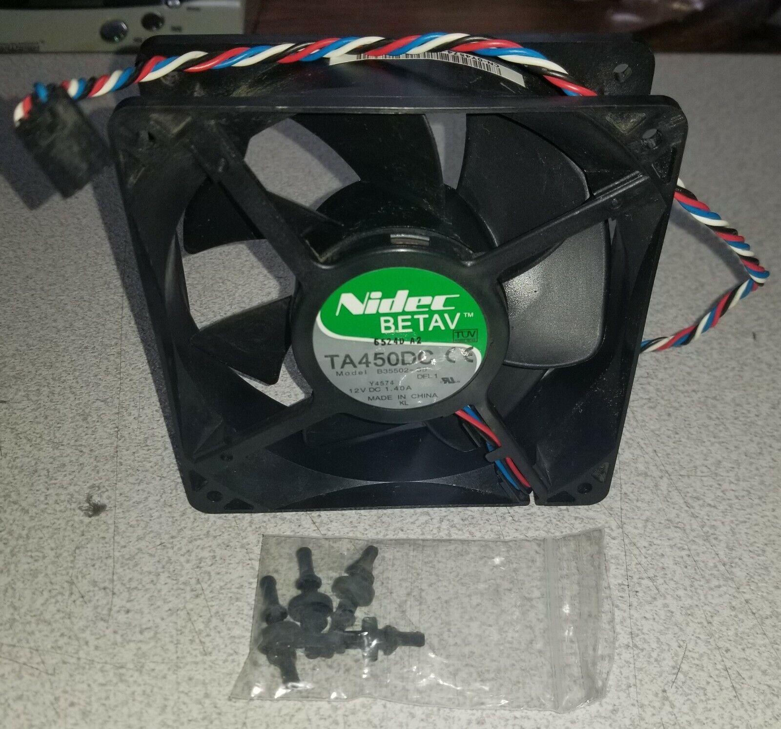 Nidec Betav 120x120x38mm Fan 4-wire 5-pin B35502-35 12v DC 0Y4574 DELL