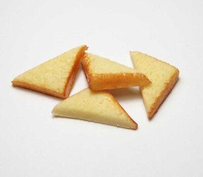 20 Dollhouse Miniature Half Toast Slices Doll Mini Food Tiny Bread Breakfast