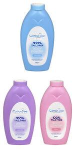 CottonTree Body Feet Powder 100% Talc-Free Absorbs Moisture Soft Skin 3 Scents