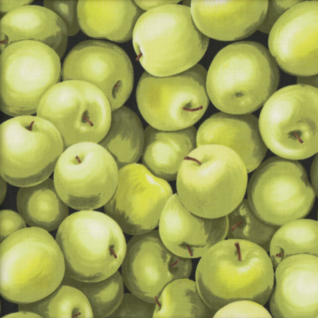 Green Apples Fruit Food Kitchen Cooking Patchwork Quilt Fabric FQ or Metre NEW