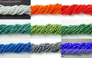 100Pcs-Top-Quality-Czech-Crystal-Opaque-Bright-Faceted-Rondelle-Spacer-Beads
