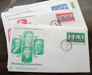 FDC 10 - PRESIDENTS OF THE UNITED STATES ST. VINCENT FIRST DAY COVERS CANCELS