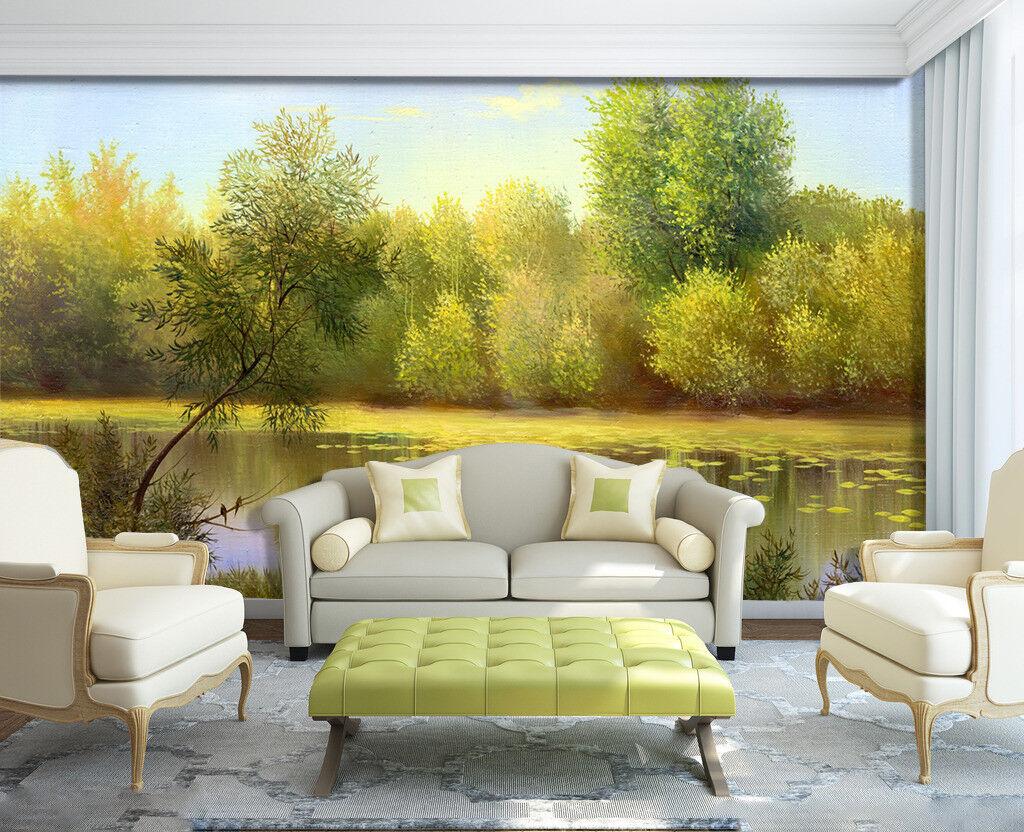 3D Tropical Rriver 7 Wall Paper Murals Wall Print Wall Wallpaper Mural AU Summer