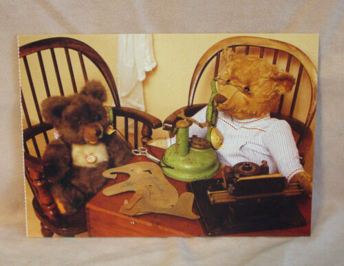 Steiff  Minky Zotty and Teddy  Postcard Steiff