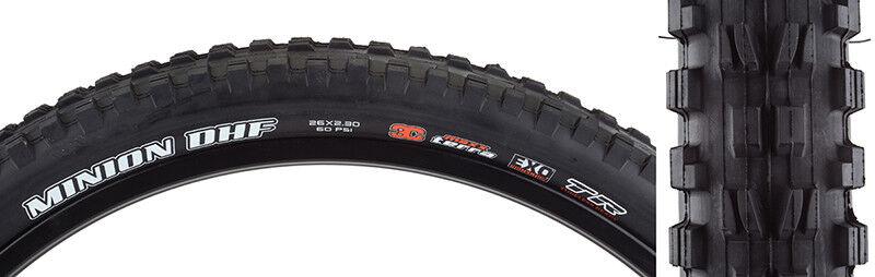 Maxxis Minion DHF 3c exo tr Tire Max minion DHF 26x2.3 Bk Fold 60 3c EXO tr