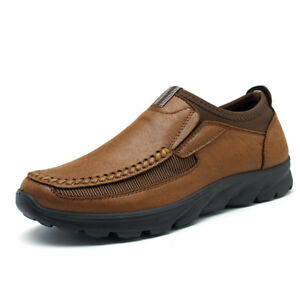 Fashion-Men-039-s-Leather-Casual-Shoes-Breathable-Antiskid-Outdoor-Loafers-Moccasins