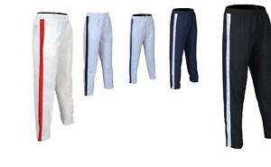 Mens-Tracksuit-Bottoms-Mesh-Lining-Silky-Casual-Gym-Joggers-Sweat-Pants-1-Stripe
