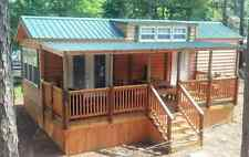 2017 National 398 Sq' RUSTIC CABIN PARK MODEL TINY HOME w/Porch Southeast U. S;