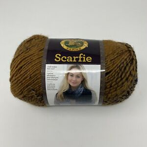 Lion-Brand-Scarfie-Yarn-Ochre-Navy-5-3-oz-312-yds-5-Bulky-Acrylic-Wool