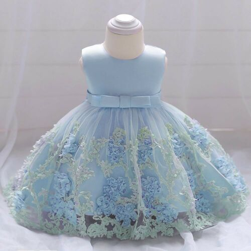 Toddle Baby Girls Flower Princess Dress Christening Birthday Party Tutu Dresses