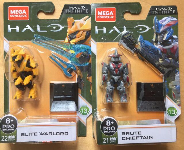 Halo Mega Construx Heroes Series 13 GVP39 ELITE WARRIOR AND Brute Chieftan