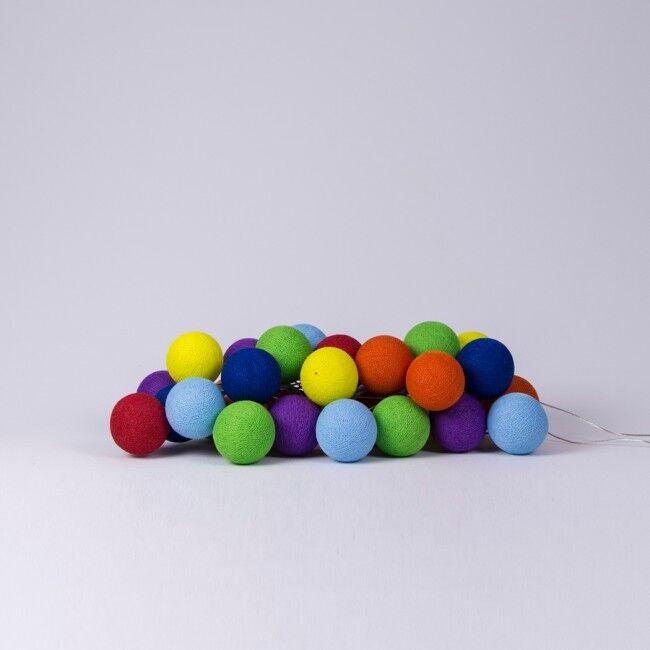 LED-Lichterkette Rainbow-cb 10, 20, 35 oder 50 Kugeln - Cotton Ball Lights