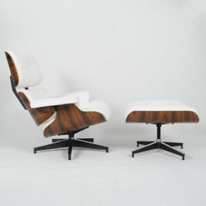 Eames lounge chair ottoman mid century reproduction for Mid century reproduction