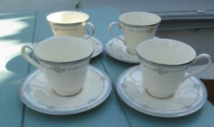 Royal-Doulton-Lisa-Tea-Cups-amp-Saucers-set-of-4-19-99-Post-Free-UK