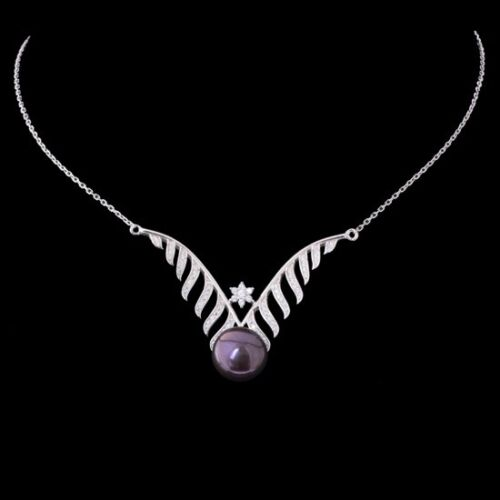 100/% NATURAL 12MM TAHITIAN FRESHWATER PEARL RARE STERLING SILVER 925 NECKLACE