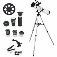 Top-max700x76mm Reflector Astronomical Telescope Space Watcher With Tripod Us