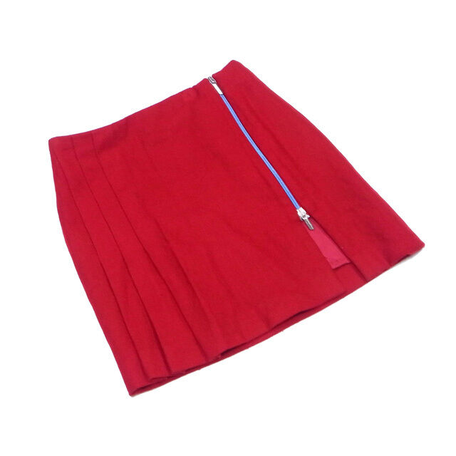 Versace Skirts Red bluee Woman Authentic Used Q395