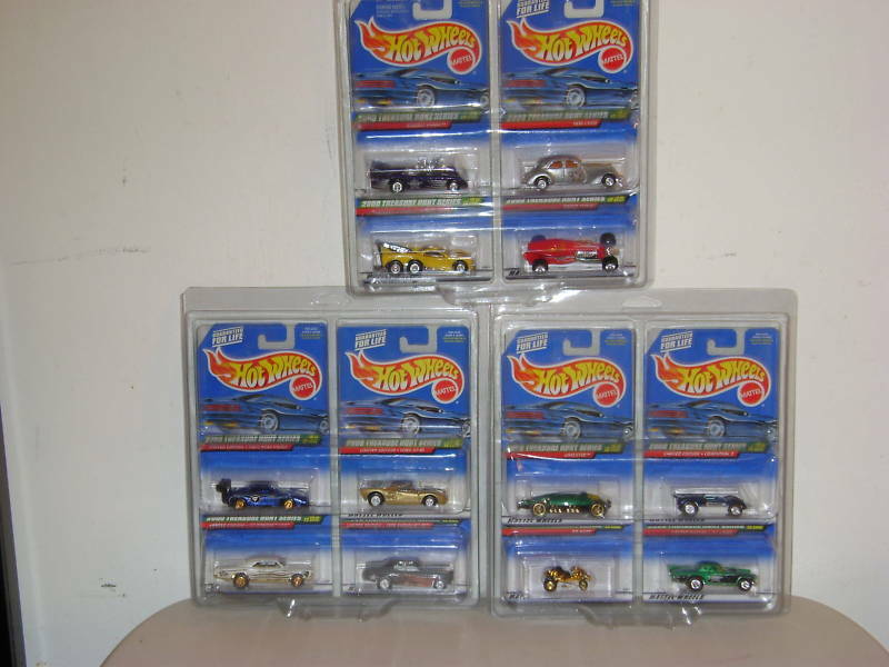 Hot Wheels compelet `00 Treasure Hunt Set Mocs