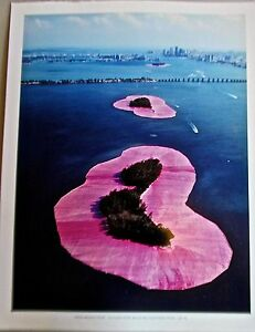 Christo-amp-Jean-Claude-Poster-Surrounded-Islands-Biscayne-Bay-Miami-14x11