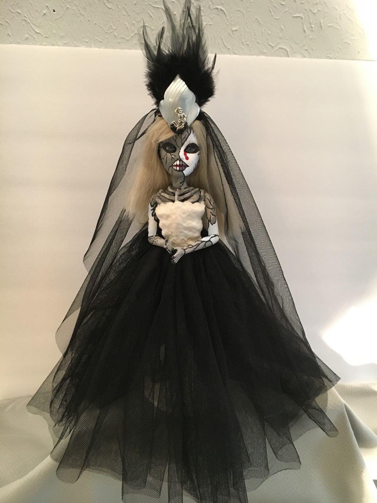 Horror Gótico Halloween Lindo muerto espeluznante Muñeca 11 2 cara OOAK jewlflower