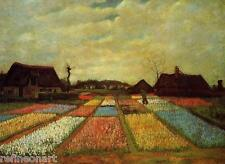 Van Gogh Flower Beds in Holland Handmade Oil Painting repro