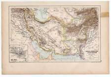 PERSIEN - AFGHANISTAN - BALUTSCHISTAN- Landkarte-Map-Lithographie 1889