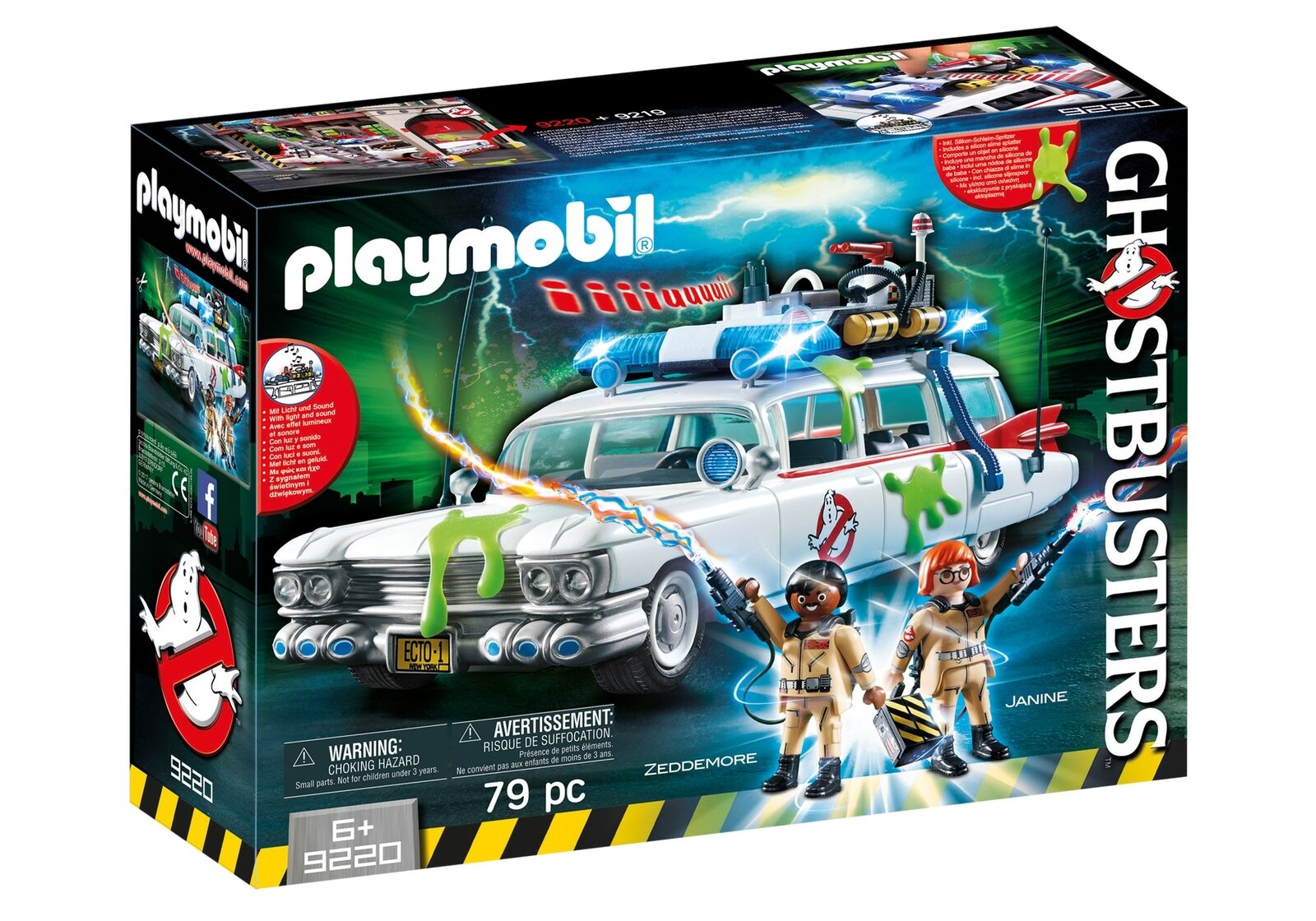 Playmobil 9220 Ghostbusters Ecto-1 Autolicht & Klang- Inc Figuren Winston Janine