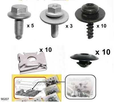 VW Touran Unterfahrschutz Einbausatz Unterbodenschutz Schrauben Clips