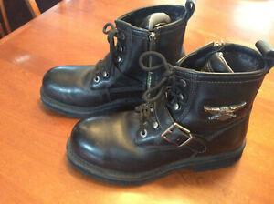 Harley-Davidson-Low-Cut-6-034-Black-Leather-Boot-in-Men-039-s-9-LIKE-NEEW