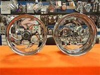 Chrome 330 Fat Tire Shredder Wheels,hubs & Sprocket For 03 And 07 Honda Cbr600
