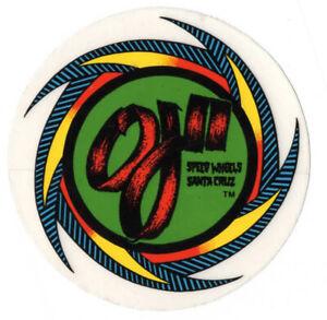 Vtg NOS Santa Cruz Sticker Decal Skate Shop Skateboard Speed Wheels OJII OJ2