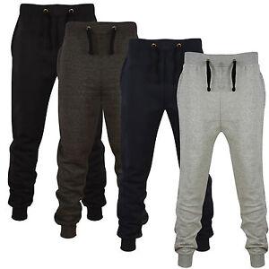 Da-Uomo-Skinny-Pantaloni-Sportivi-Jogging-Bottoms-Slim-Fit-Pile-Pantaloni-tuta-da-ginnastica