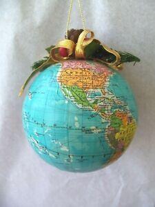 Vtg World Globe Christmas Ornament! VERY DETAILED! USSR ...