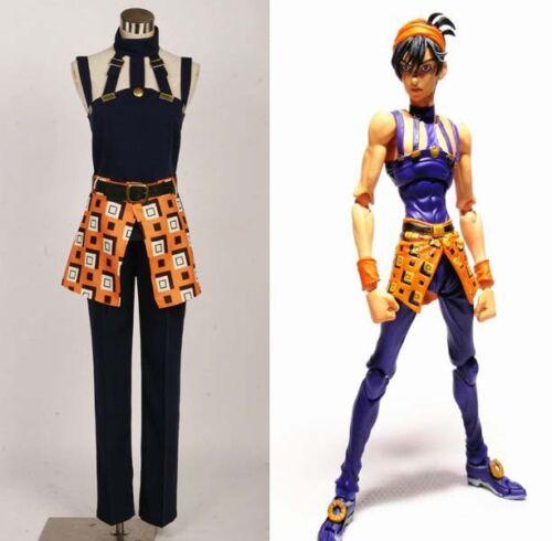 JoJo/'s Bizarre Adventure 5 Narancia Ghirga Costume cosplay Uniform Anime Party
