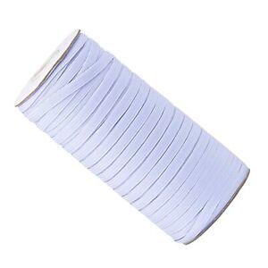 Blanco-Tejido-plano-elastico-con-cintura-elastica-Coser-Confeccion-del-pantalon-6-8-10mm