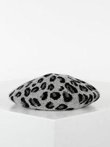 Cappello basco leopardato donna
