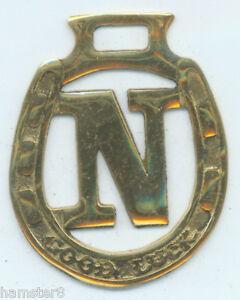 """/""""I/"""" GOOD LUCK ALPHABET    Horse brass N780"""