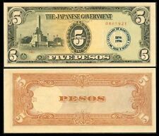5 Pesos JAPANESE OCC Banknote w/ Rizal Centenary Seal 2