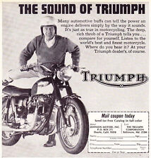 1967 TRIUMPH MOTORCYCLE  ~  CLASSIC ORIGINAL SMALLER PRINT AD
