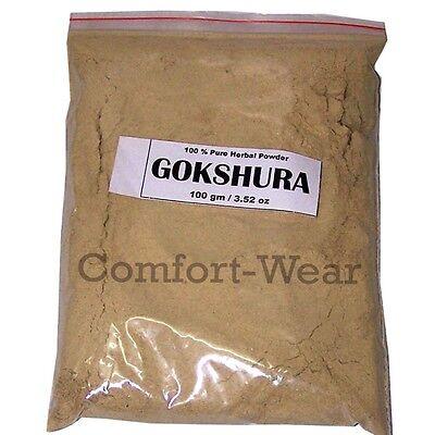 GOKSHURA TRIBULUS TERRESTRIS Urinary Genital Support, Better Stamina Libido 100g