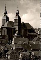 Walldürn Odenwald Postkarte ~1950/60 Überblick zur Wallfahrtskirche Kirche