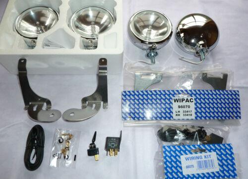 BMW Mini ONE D 01-06 Brushed Stainless Steel Spot Lights like Chrome full kit