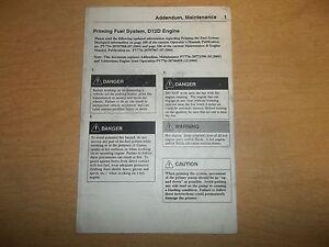 volvo pv776 20811894 d12d engine priming fuel system manual 2005 rh ebay com Auto Repair Manual Manual Book