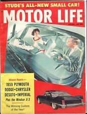 Motor Life Magazine October 1958 1959 Plymouth GD No ML 030717nonjhe