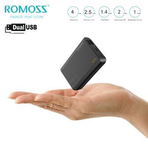 ROMOSS  Portable Power Bank Dual USB 10000mAh External Battery Backup Charger
