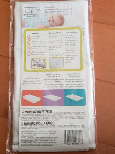Baby Trend Respiro Crib Mattress Splash Mat Colchoneta Contra Salpiques