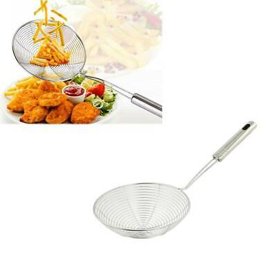 Stainless Steel Solid Spider Strainer Skimmer Ladle With Handle Kitchen Tool kit