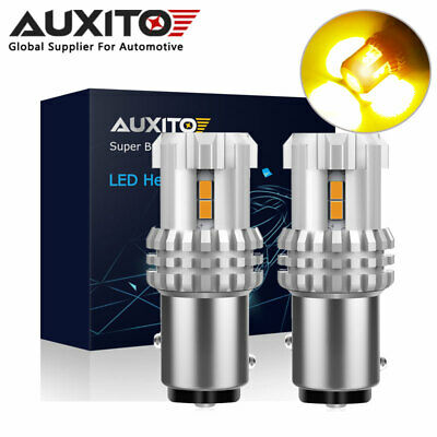 2x BAY15D 1157 WHITE AND AMBER SIDELIGHT AND INDICATOR COMBINED LED 380 TYPE 1